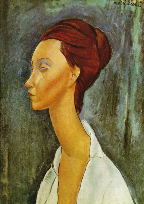 Amedeo Modigliani Reproductions-Portrait of Lunia Czeckovska, 1919