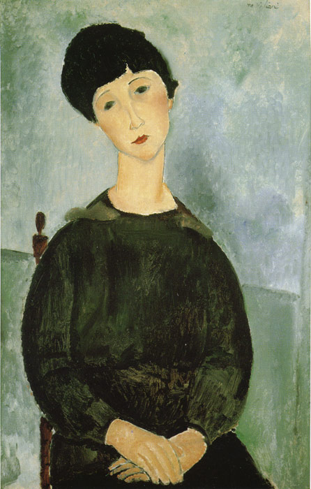 Amedeo Modigliani Reproductions-Young Girl, 1918
