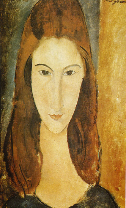 Amedeo Modigliani Reproductions-Portrait of Jeanne Hebuterne, 1919