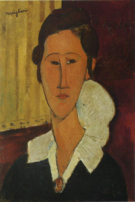 Paintings Reproductions Modigliani, Amedeo Portrait of Anna Zborovska, 1917