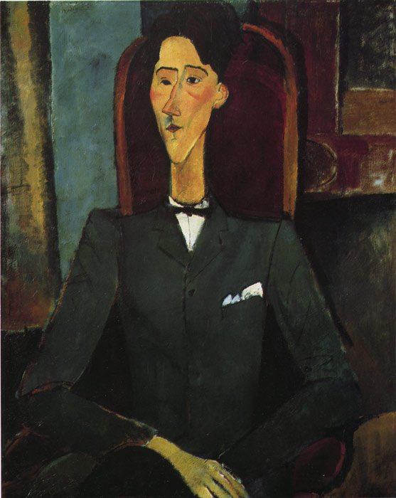 Paintings Reproductions Modigliani, Amedeo Portrait of Jean Cocteau, 1916