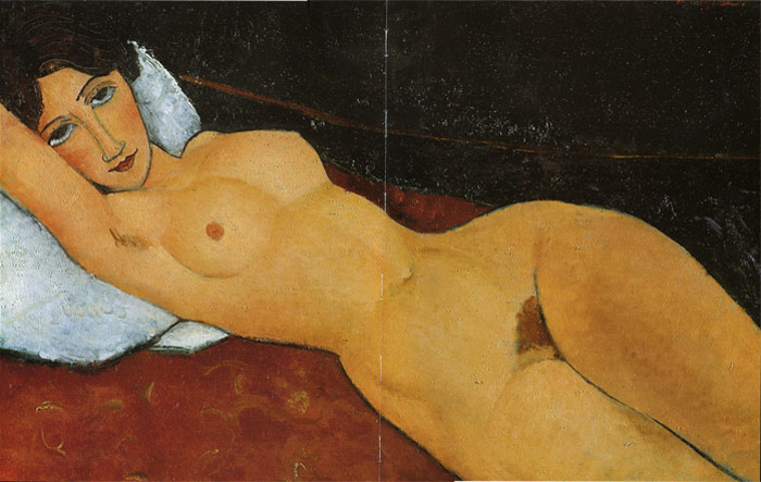 Amedeo Modigliani Reproductions-Reclining Nude , 1917