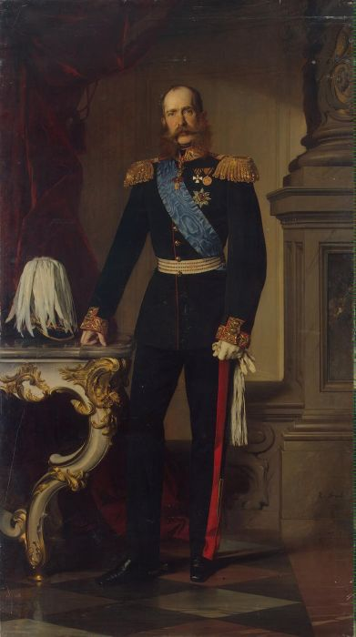 Paintings Reproductions Angeli, Heinrich von Portrait of Franz Josef I, 1874