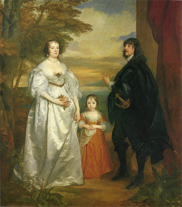 Paintings Reproductions Dyck, Sir Antony van James, Seventh Earl of Derby, His Lady and Child
