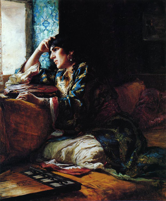 Paintings Reproductions Bridgeman, Arthur Frederick A woman of Morocco, 1883
