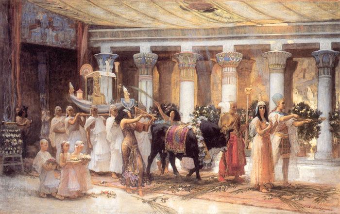 Paintings Reproductions Bridgeman, Arthur Frederick The Procession of the Sacred Bull Anubis