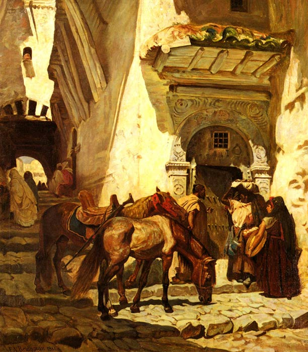 Paintings Reproductions Bridgeman, Arthur Frederick Near The Kasbah, 1881