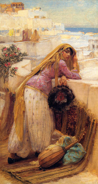 Arthur Frederick Bridgeman Reproductions-On the Terrace