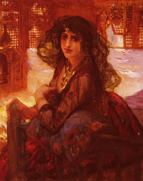 Arthur Frederick Bridgeman Reproductions-Harem Girl