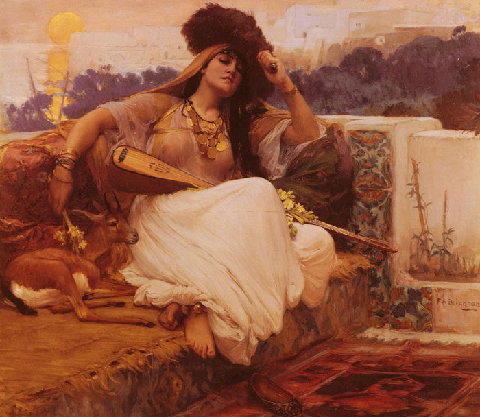 Arthur Frederick Bridgeman Reproductions-L'Indolence