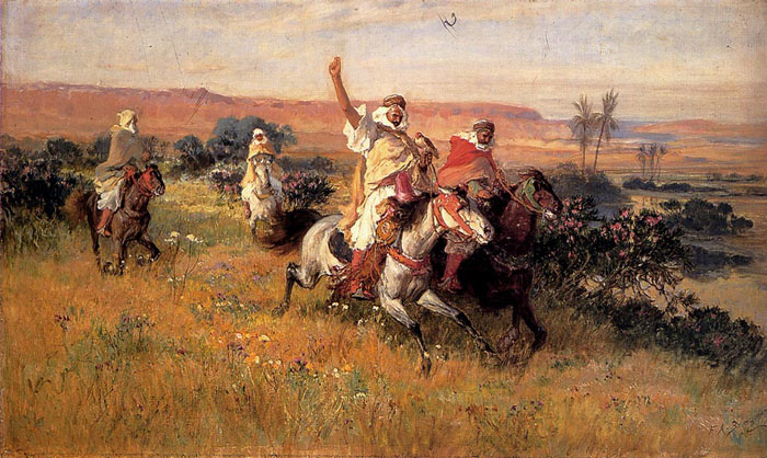 Arthur Frederick Bridgeman Reproductions-The Falcon Hunt