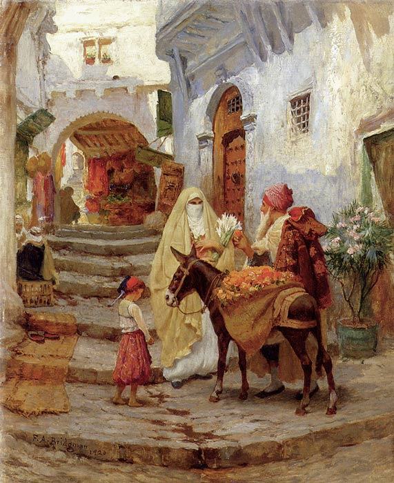 Paintings Reproductions Bridgeman, Arthur Frederick The Orange Seller, 1920