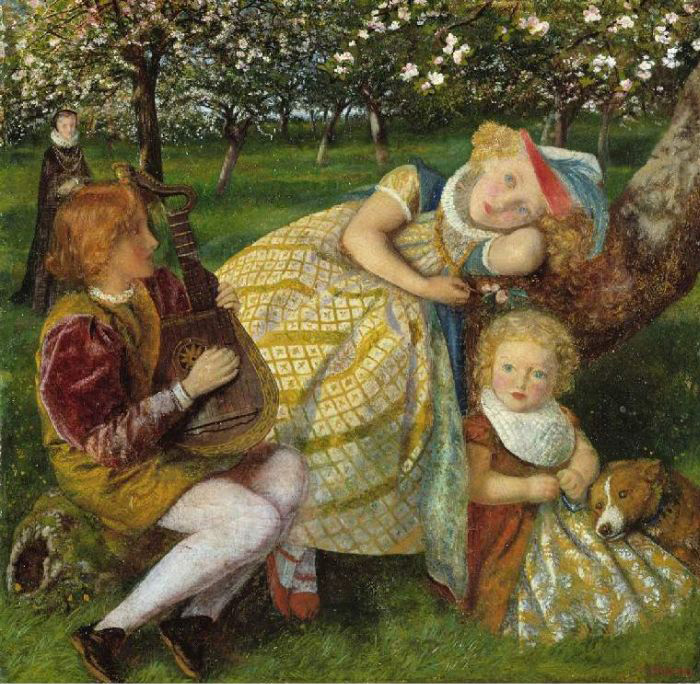 Paintings Reproductions Hughes, Arthur The King's Orchard, 1858