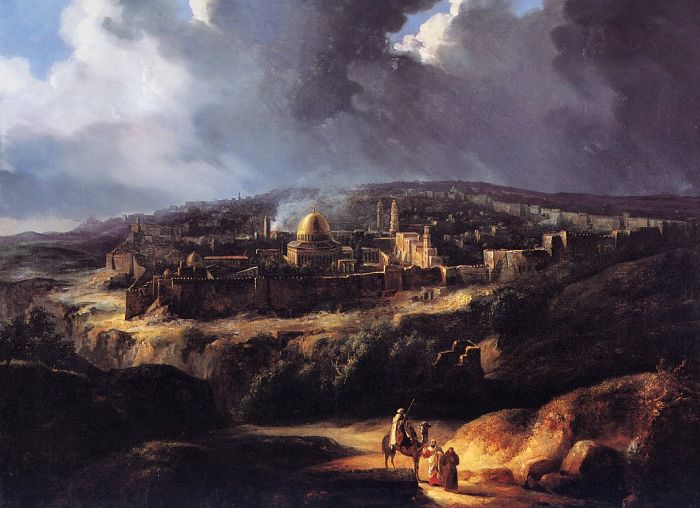 Paintings Reproductions Forbin, Auguste de View of Jerusalem from the Valley of Jehoshaphat, 1825