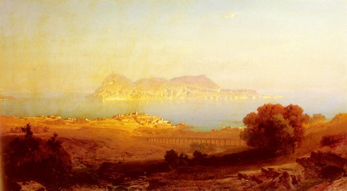 Paintings Reproductions Bamberger, Friedrich Gibraltar