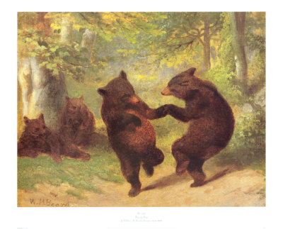 William Holbrook Beard Reproductions-Dancing Bears