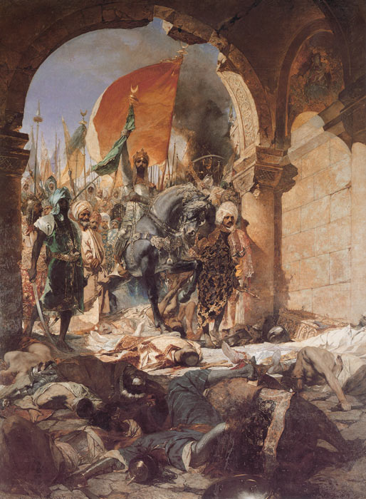 Benjamin Jean Joseph Constant   Reproductions-The Entry of Mahomet II into Constantinople, 1876