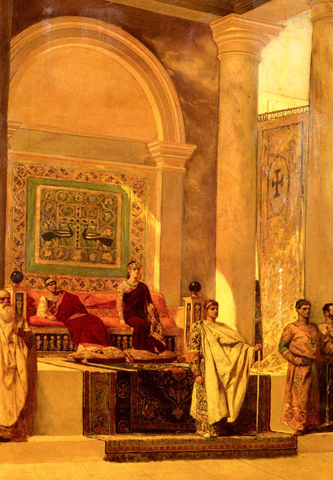 Paintings Reproductions Constant, Benjamin Jean Joseph The Throne Room In Byzantium