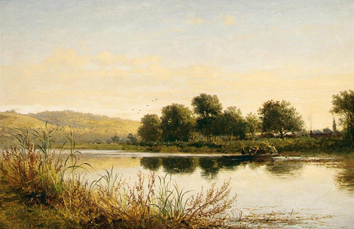 Paintings Reproductions Leader, Benjamin Williams Streatley-on-Thames, 1874