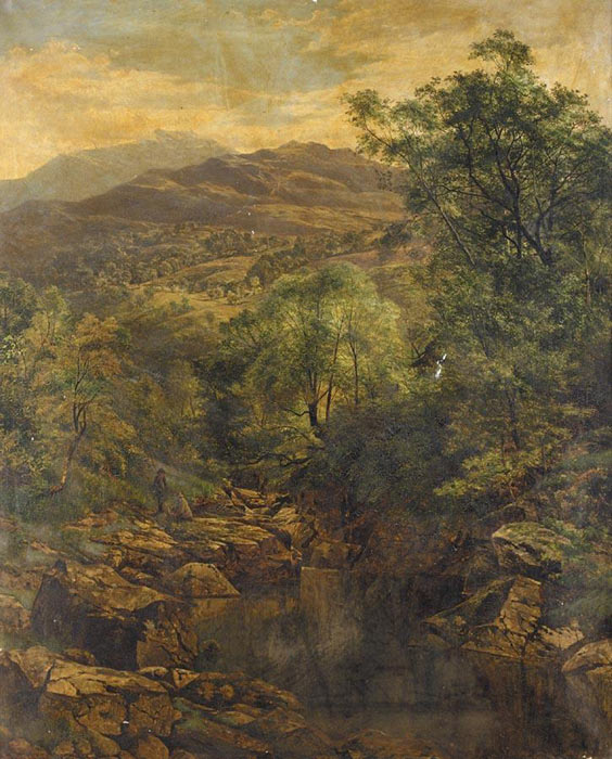 Paintings Reproductions Leader, Benjamin Williams A Quiet Pool in Glenfalloch, 1859
