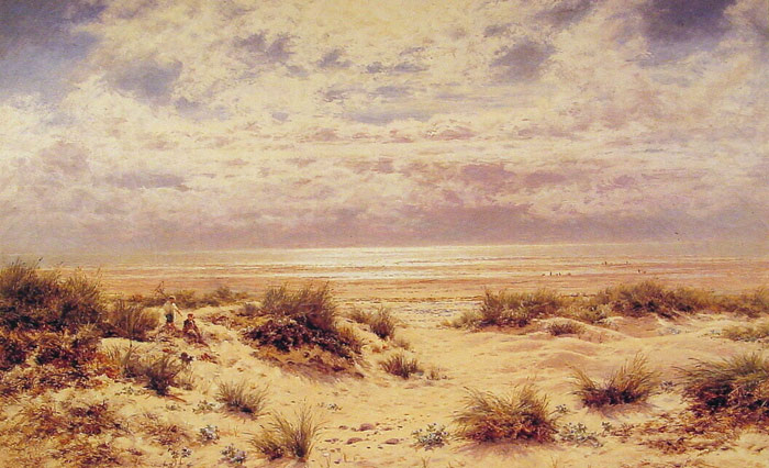 Paintings Reproductions Leader, Benjamin Williams Low tide on the South Coast, 1911