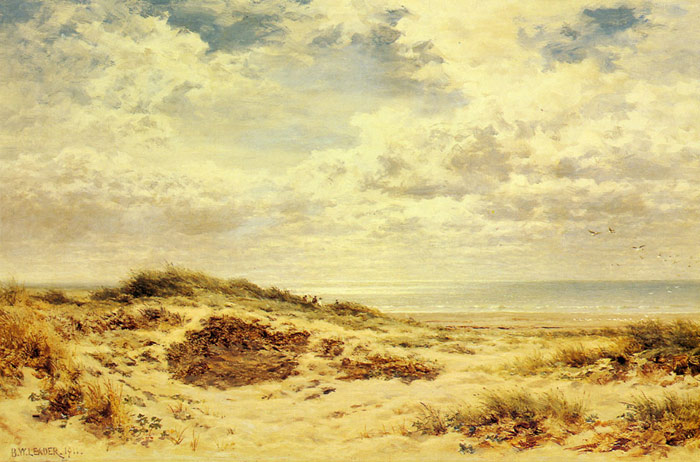 Paintings Reproductions Leader, Benjamin Williams Morning on the Sussex Coast, 1911