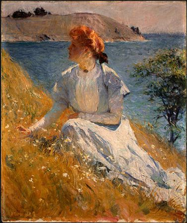 Frank Weston Benson Reproductions-Margaret Strong, c. 1909