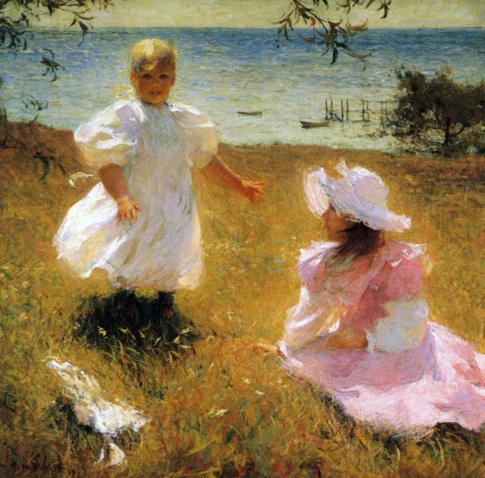 Frank Weston Benson Reproductions-The Sisters
