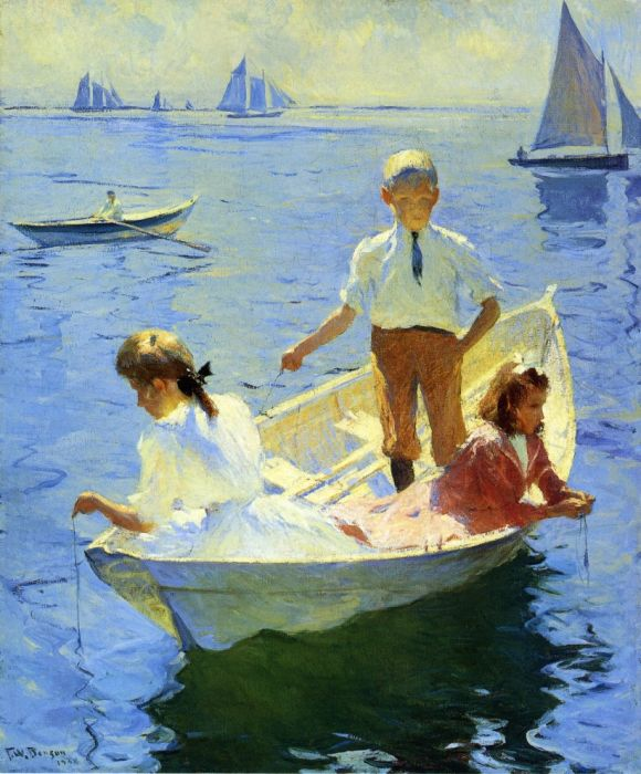 Paintings Reproductions Benson, Frank Weston Calm Morning, 1904