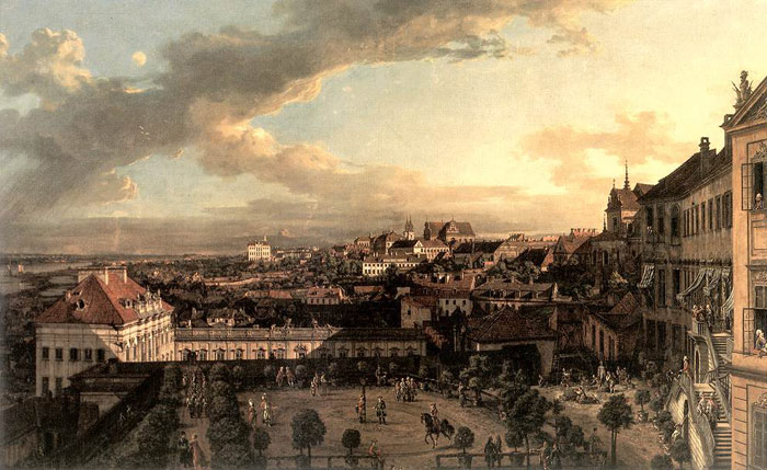 Bernardo Bellotto Reproductions-View of Warsaw from the Royal Palace, 1773