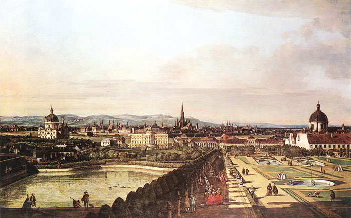 Bernardo Bellotto Reproductions-View of Vienna from the Belvedere, 1759-1760