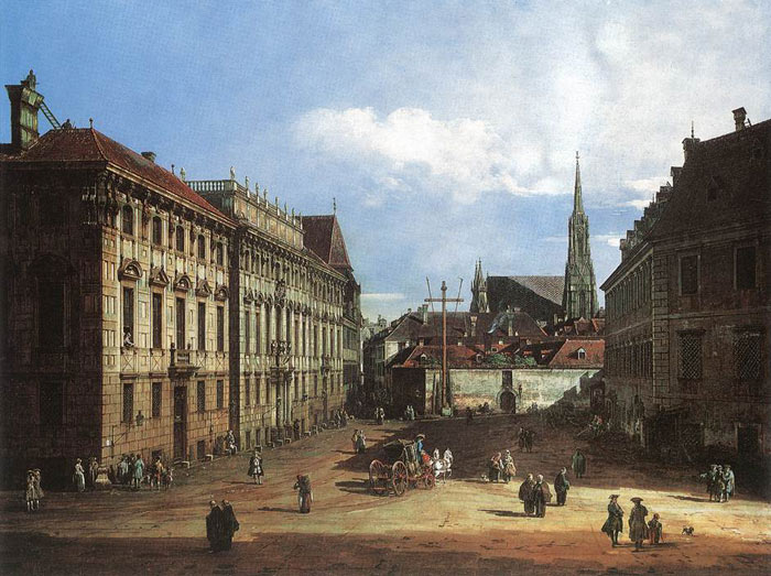 Bernardo Bellotto Reproductions-Vienna, the Lobkowitzplatz, 1759-1760