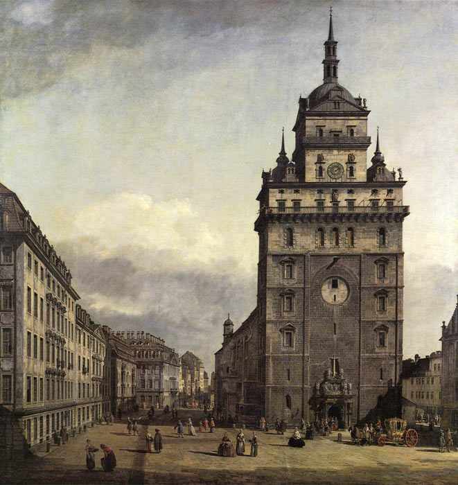 Bernardo Bellotto Reproductions-The Kreuzkirche in Dresden, 1747-1756
