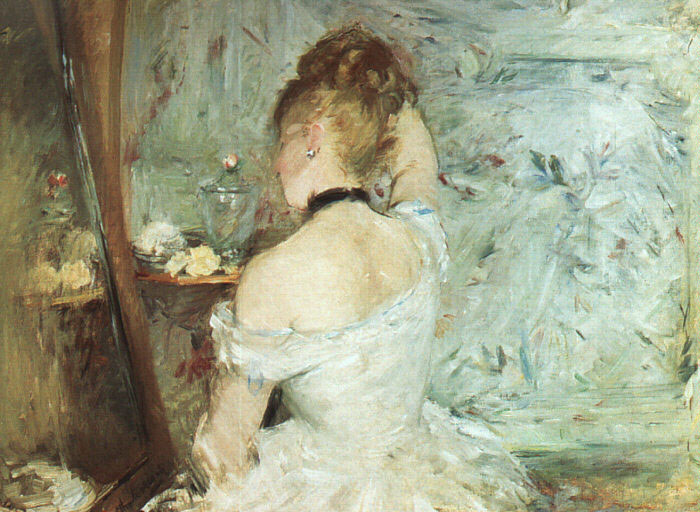 Paintings Reproductions Morisot, Berthe A Woman at her Toilette, 1875