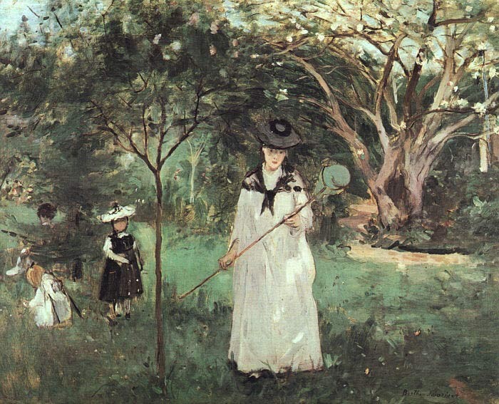 Berthe Morisot Reproductions-The Butterfly Chase, 1874