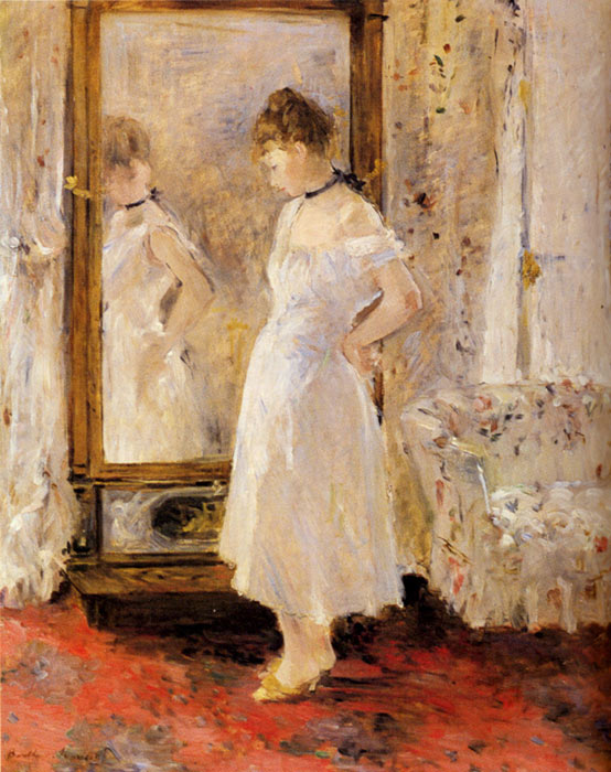 Berthe Morisot Reproductions-The Cheval Glass, 1876