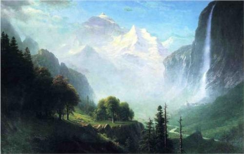 Paintings Reproductions Bierstadt, Albert Staubbach Falls