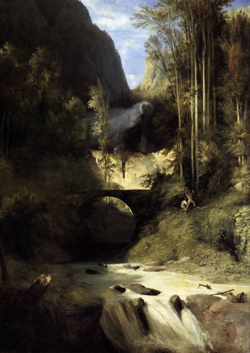 Karl Blechen Reproductions-Gorge at Amalfi, 1831