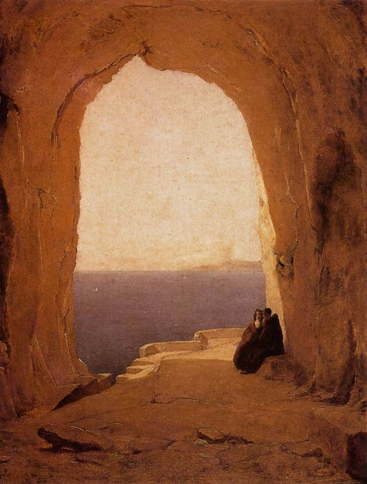 Karl Blechen Reproductions-Grotto in the Gulf of Naples, 1829