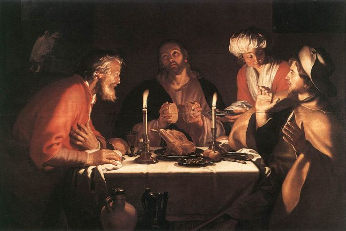 Paintings Reproductions Bloemaert, Abraham The Emmaus Disciples, 1622