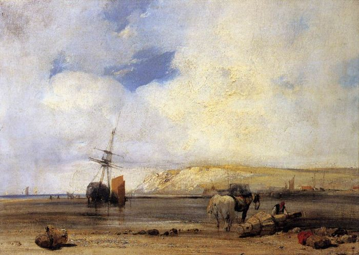 Paintings Reproductions Bonington, Richard Parkes On the Coast of Picardy, 1826