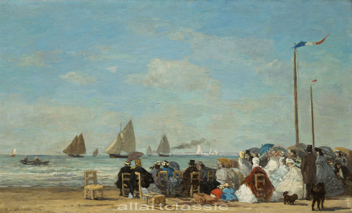 Eugene Boudin Reproductions-Trouville, 1963