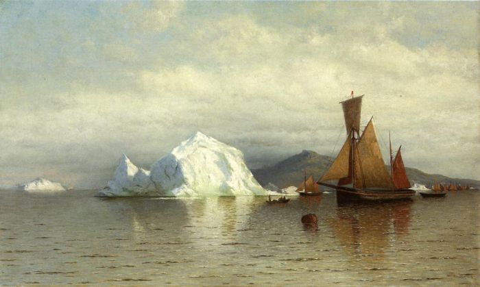 Paintings Reproductions Bradford, William Labrador Fishing Boats near Cape Charles, 1862