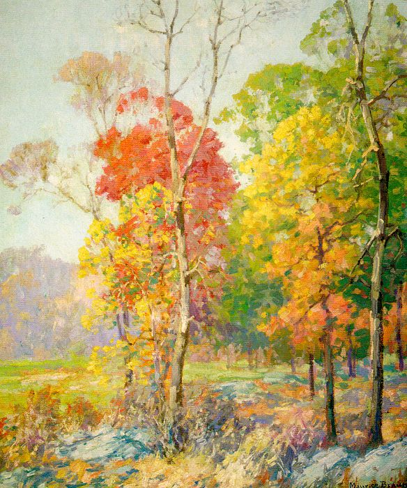 Paintings reproductions braun maurice autumn in new england