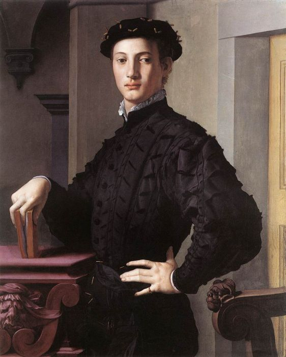 Agnolo Bronzino Reproductions-Portrait of a Young Man, 1540