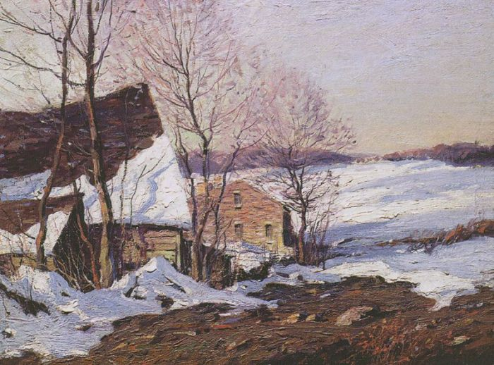 George M Bruestle Reproductions-Barns in Winter