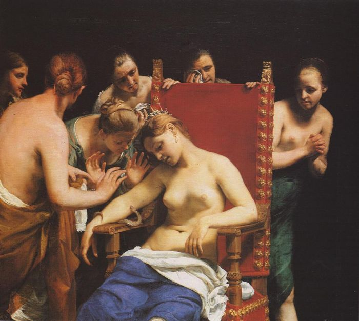 Paintings Reproductions Cagnacci, Guido The Death of Cleopatra, 1658
