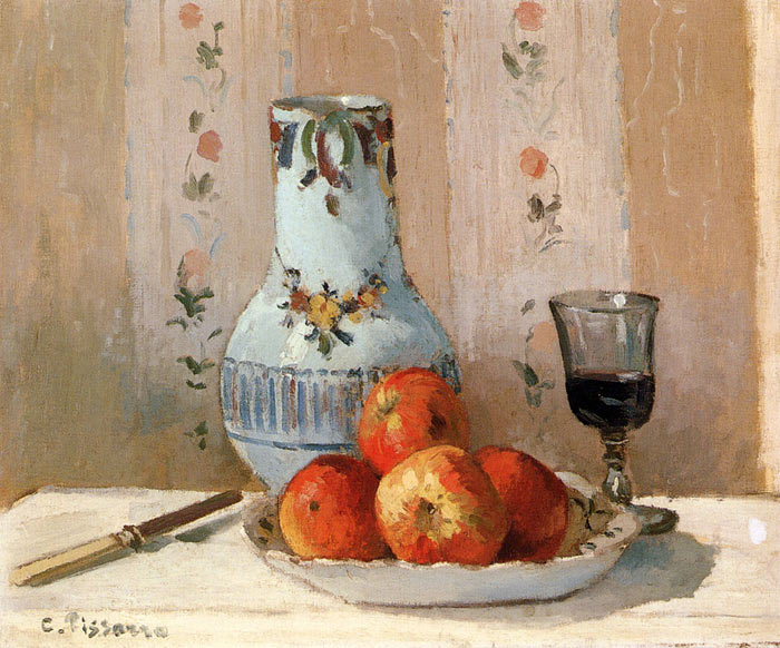 Paintings Reproductions Pissaro, Camille Still Life with Apples and Pitcher, 1872