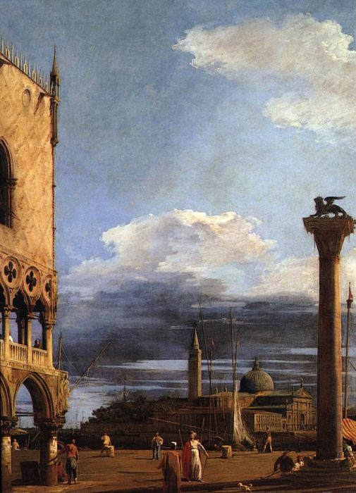 Paintings Reproductions Canaletto, Giovanni Antonio Canal The Piazzetta towards S. Giorgio Maggiore, 1724