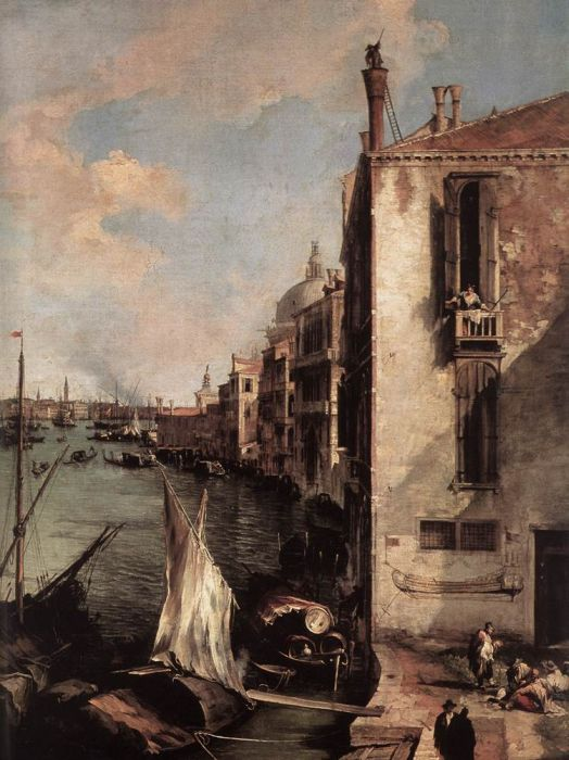 Grand Canal, Looking East from the Campo San Vio, 1723 Canaletto, Giovanni Antonio Canal Painting Reproductions